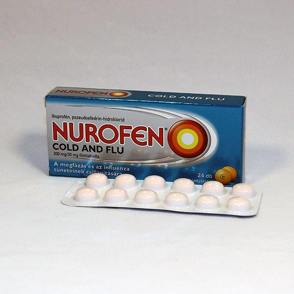 Nurofen Cold and Flu 200 mg 30 mg filmtabletta 24 db
